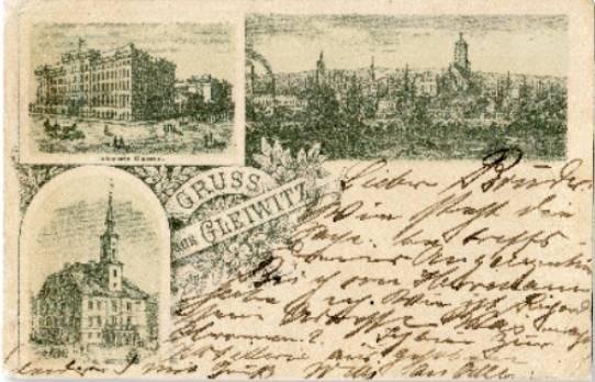 gruss pocztówka gliwice